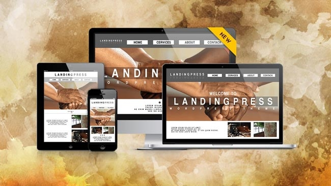 Tema WordPress terbaik : LandingPress