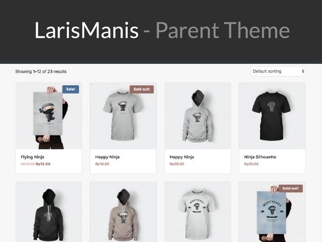 Tema toko online Laris Manis