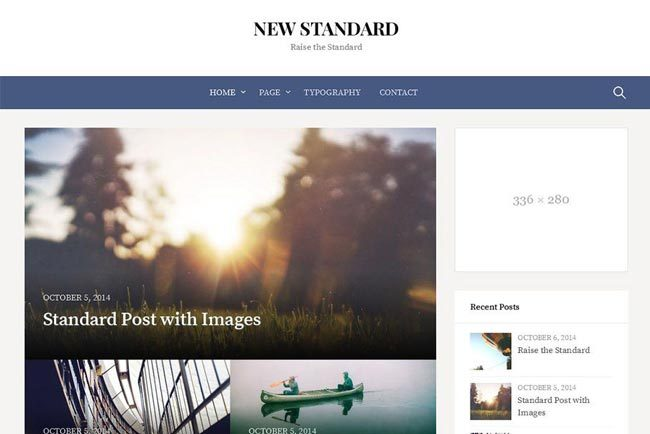 New Standard WordPress theme