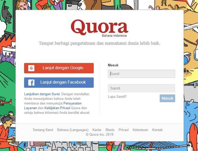 Situs web tanya jawab Quora