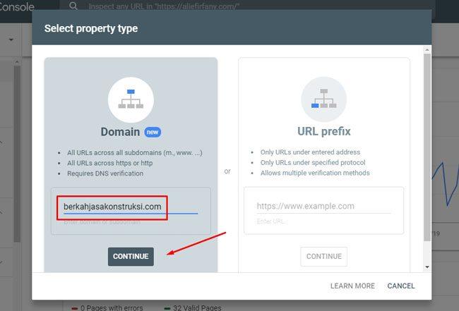 Daftar Google Webmaster : Metode baru penambahan domain