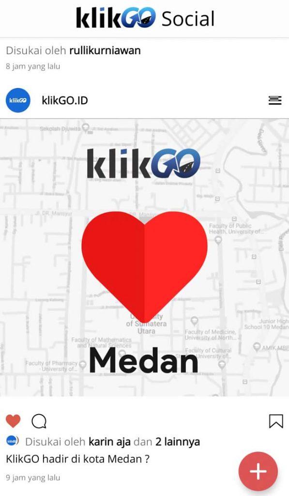 Media sosial KlikGo Indonesia