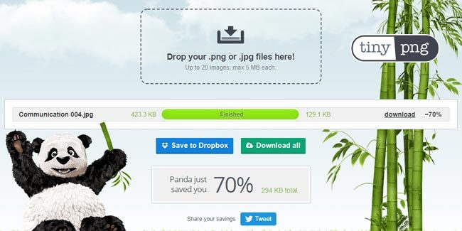 Hasil optimasi gambar di Tinypng.com