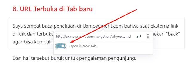 Membuka eksternal link di halaman baru