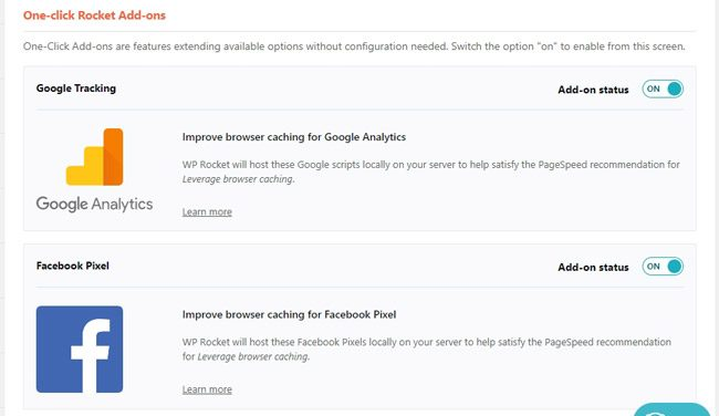 Analytics dan Facebook pixel add ons