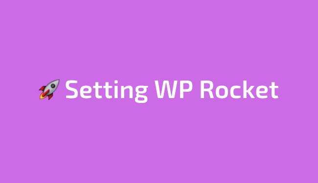 Panduan cara setting plugin WP Rocket terbaru