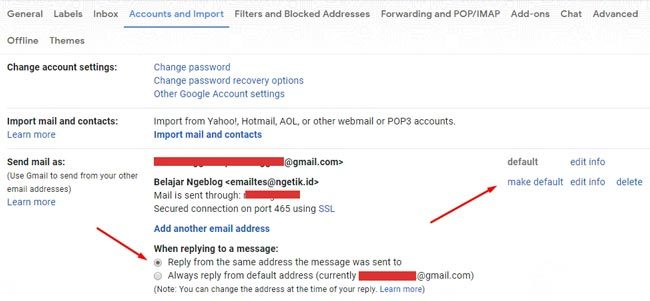 Pengaturan integrasi email domain ke Gmail