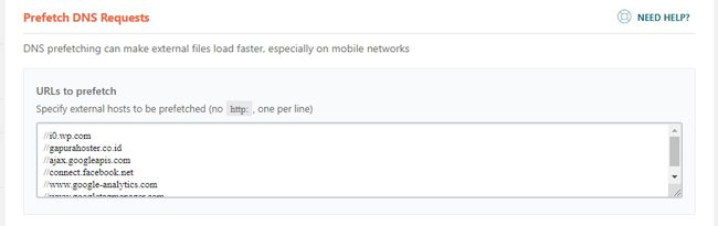 DNS prefetching untuk eksternal URL