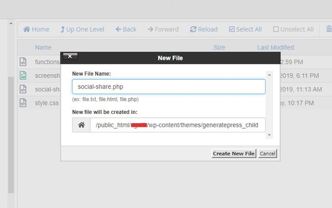 Create a new file social-share.php