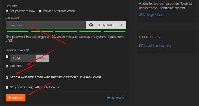 Melengkapi data email domain baru