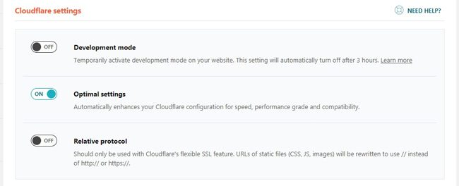 Pengaturan add on Cloudflare