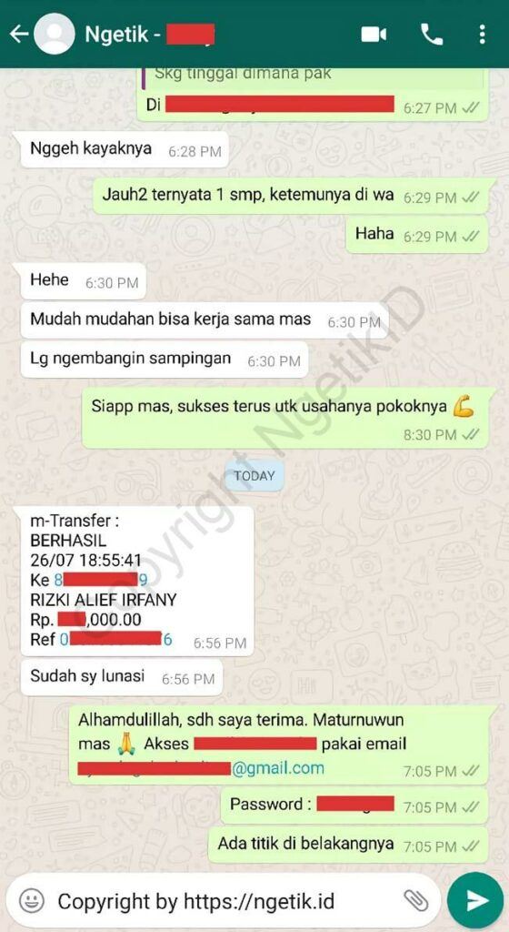 Testimoni jasa buat channel YouTube Fery