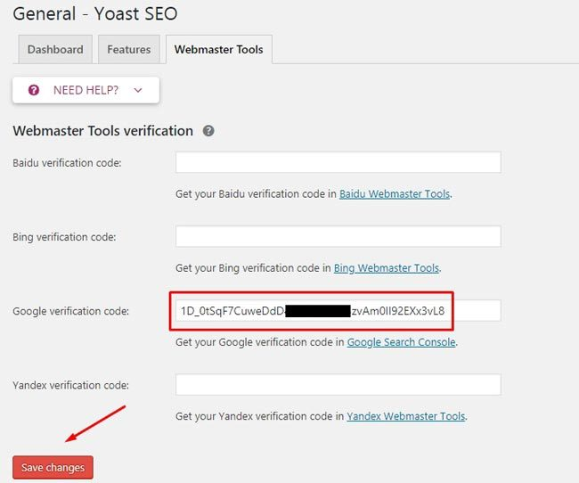 Daftar Google Webmaster : Verifikasi Webmaster dengan Yoast SEO