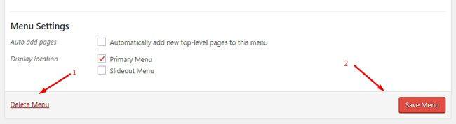 Cara menghapus menu di WordPress