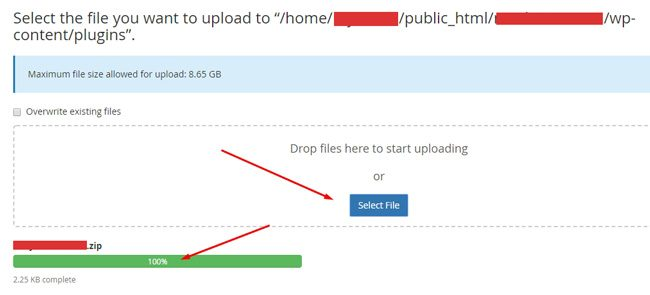 Proses upload file plugin
