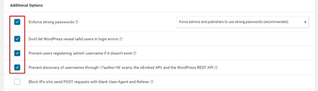 Cara setting plugin wordfence : additional option