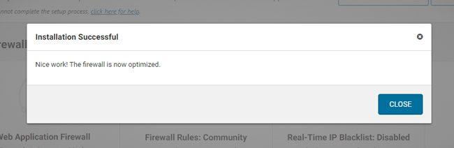 Fitur firewall Wordfence sudah diaktifkan