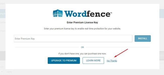 Wordfence premium license key