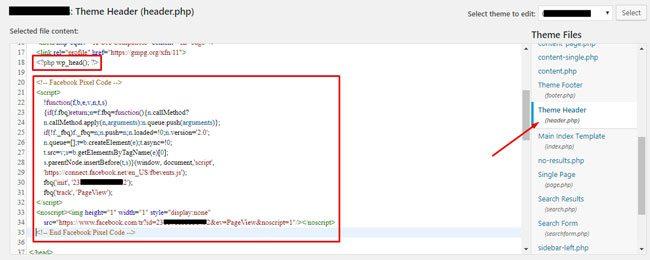 Cara memasang kode pixel PageView