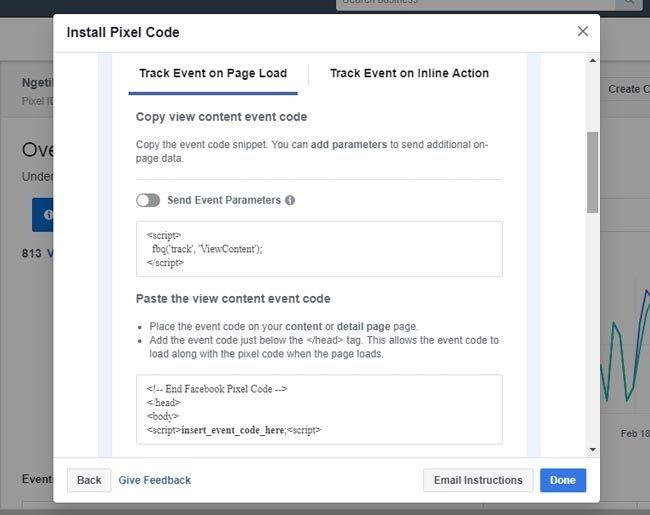 Kode pixel ViewContent