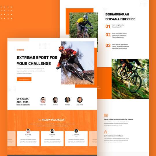 Contoh template jasa pembuatan landing page