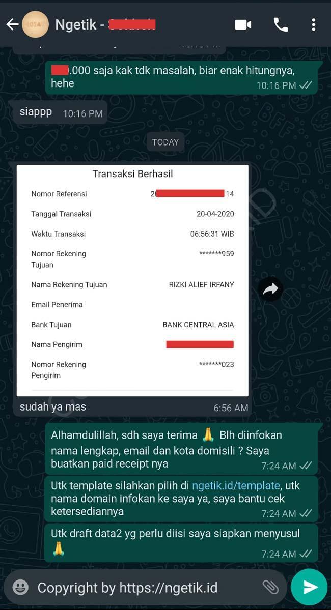 Testi jasa buat landing page Fadoman