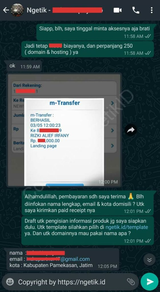 Testi jasa buat landing page Indra Nopriyanto