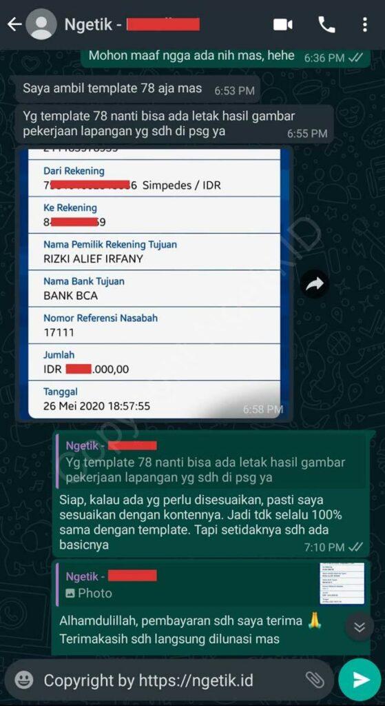 Testi jasa buat landing page Ramdhani