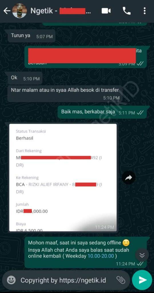 Testi jasa buat landing page Muhammad Syafiq